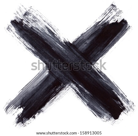 Grunge cross - stock photo