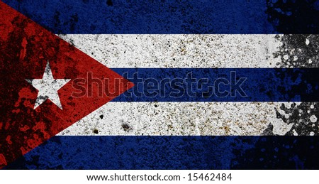 Grunge Cuba Flag. Flag Series - see more in my portfolio. - stock photo