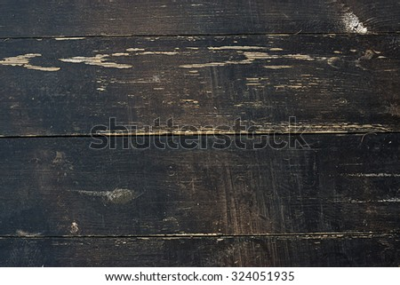 Grunge dark wooden background with old rough timber. Rustic style - stock photo