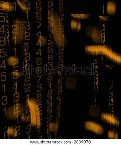 Grunge Data - stock photo