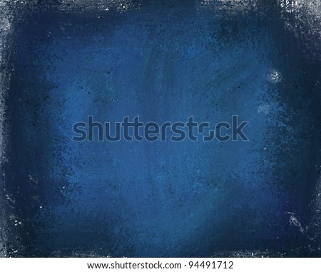 grunge deep blue background with faded white edges and blotchy grungy stains with center highlight and dark edges and copy space for text or image of your ad or brochure - stock photo
