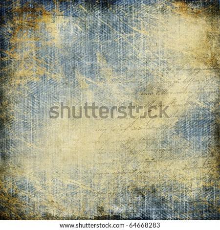 grunge denim paper - stock photo