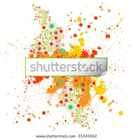 Grunge Design Background with Paint Splatters