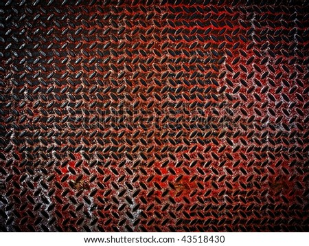 grunge diamond plate background - stock photo