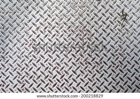 Grunge diamond plate texture - stock photo