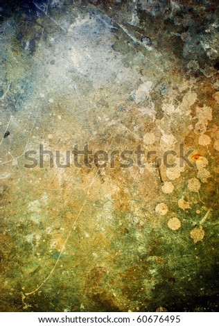 Grunge dirty texture, brown scratched metal plate, scratched background - stock photo