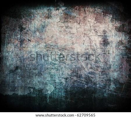Grunge dirty texture, brown scratched surface, dark underground background - stock photo