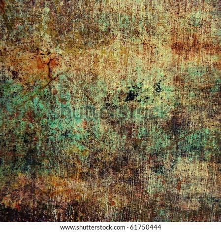 Grunge dirty texture, brown scratched surface, underground background - stock photo