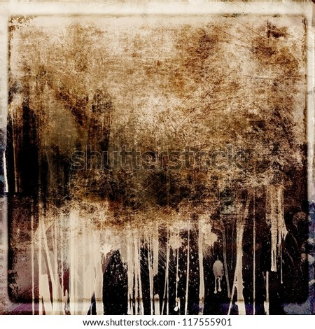 Grunge dripping abstract background - stock photo