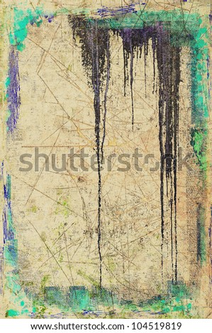 Grunge dripping background. Useful for banner or logo. - stock photo