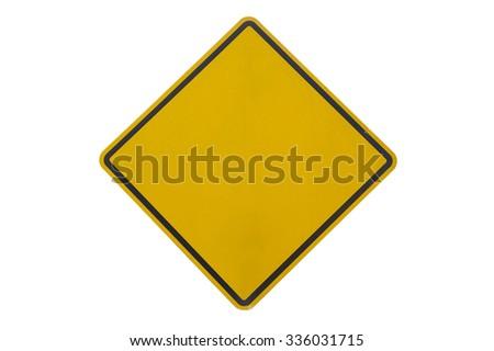 Grunge empty road sign - stock photo
