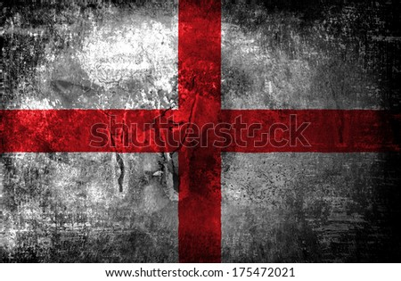 Grunge England Flag  - stock photo