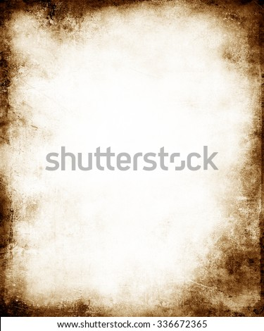 Grunge Faded Background With Frame