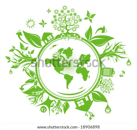 grunge fantasy globe and environment background