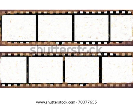 Grunge film frames - stock photo