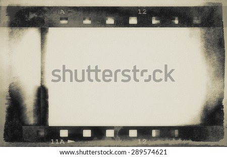 grunge film strip background - stock photo