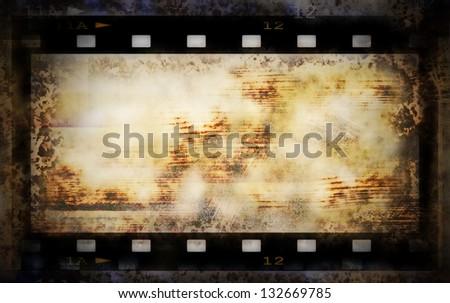 grunge film strip frame background - stock photo