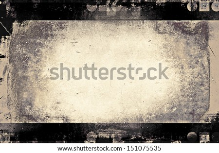 grunge filmstrip for background, design element - stock photo