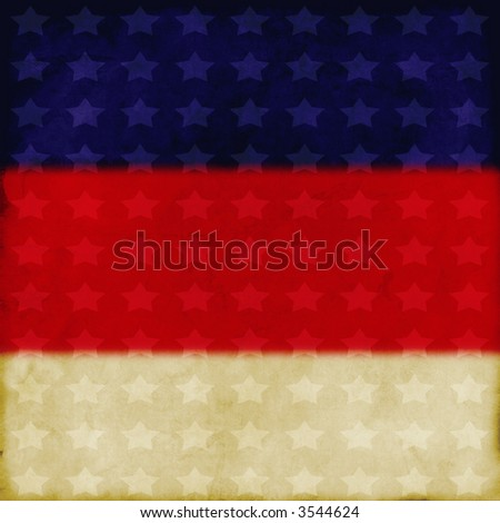 grunge flag inspired background - stock photo