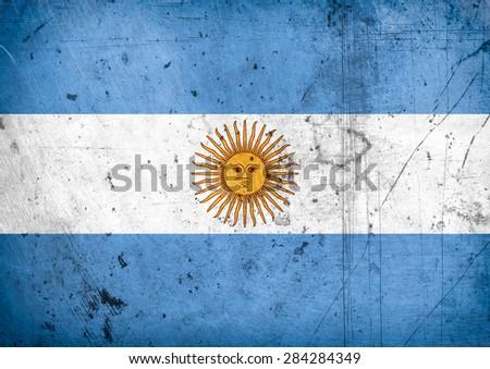 grunge flag of Argentina - stock photo