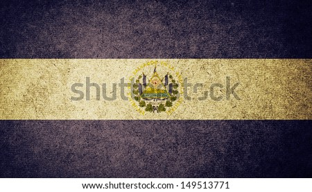 Grunge Flag of El Salvador - stock photo