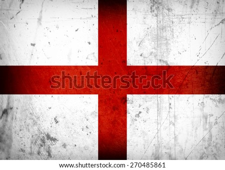 grunge-flag of England - stock photo