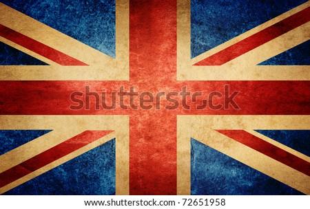 grunge flag of England - stock photo