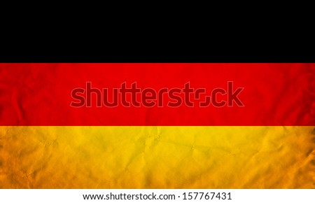 Grunge flag of European country Germany - stock photo
