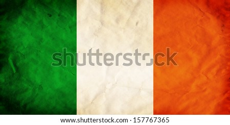 Grunge flag of European country Ireland - stock photo