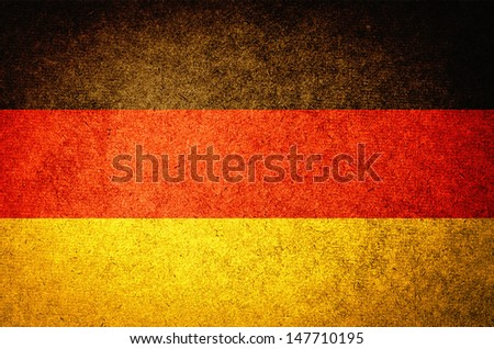 grunge flag of germany - stock photo
