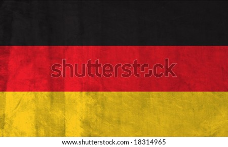 Grunge Flag of Germany. Full collection European flags.