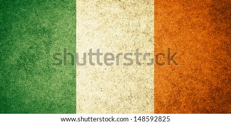 Grunge Flag of Ireland - stock photo