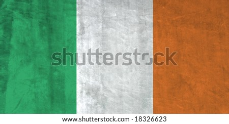Grunge Flag of Ireland. Full collection European flags.