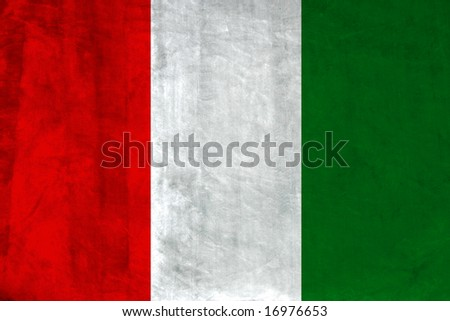 Grunge Flag of Italy. Full collection European flags. - stock photo