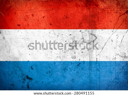grunge flag of Luxembourg - stock photo