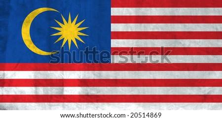Grunge Flag of Malaysia - stock photo