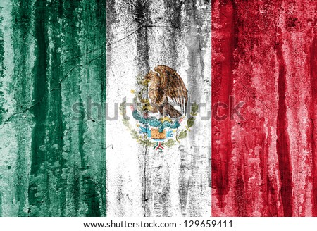 Grunge Flag Of Mexico - stock photo