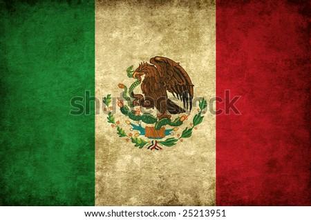 Grunge flag of Mexico - stock photo