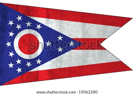 Grunge Flag of Ohio