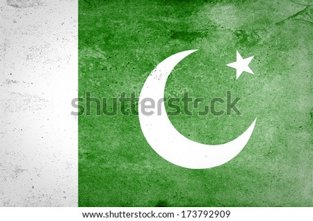 Grunge Flag of Pakistan  - stock photo