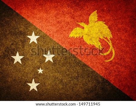 Grunge Flag of Papua New Guinea - stock photo