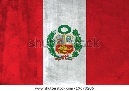 Grunge Flag of Peru - stock photo