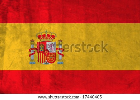 Grunge Flag of Spain. Full collection European flags. - stock photo