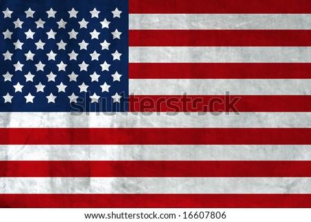 Grunge Flag of USA - stock photo