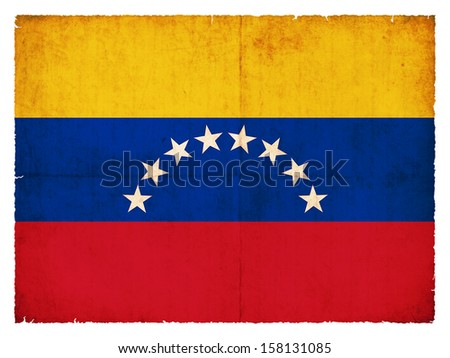 Grunge flag of Venezuela - stock photo
