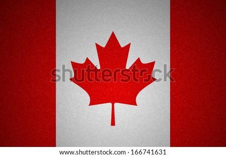 Grunge flag series - Canada - stock photo