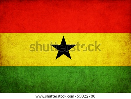 Grunge flag series - Ghana - stock photo