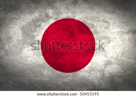 Grunge flag series of all sovereign countries - Japan