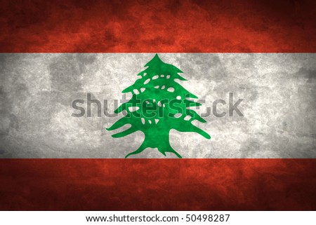 Grunge flag series of all sovereign countries - Lebanon