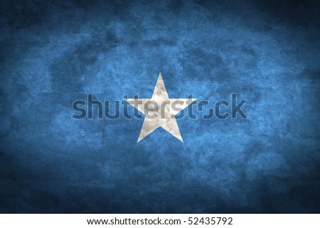 Grunge flag series of all sovereign countries - Somalia - stock photo